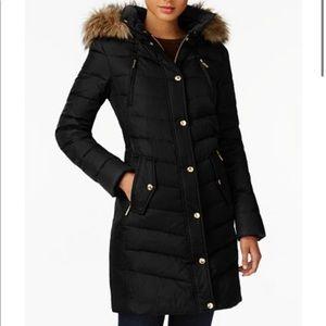 MK michael kors puffer jacket with fur hood